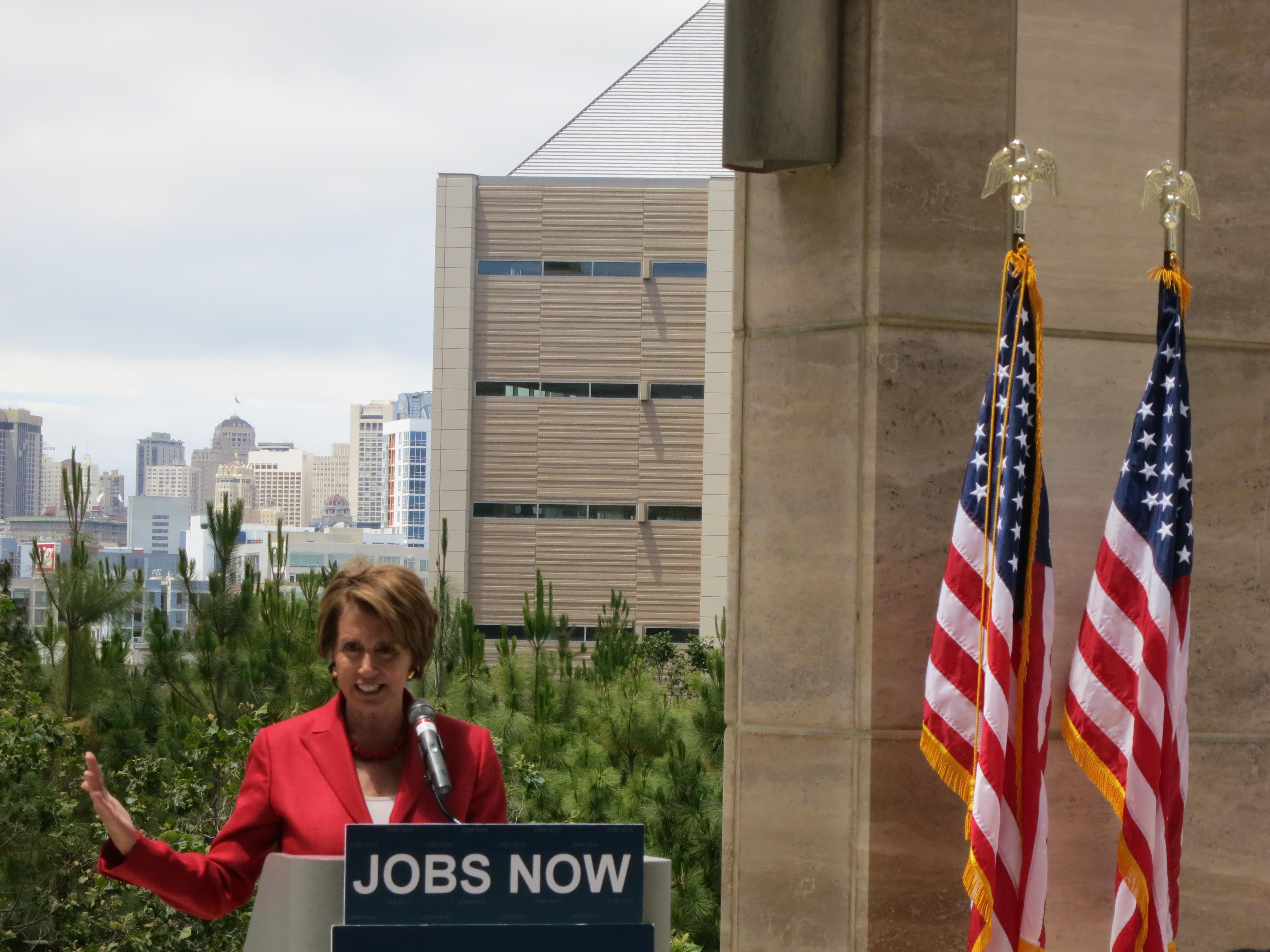 File:Congresswoman Pelosi at San Francisco's Mission Bay