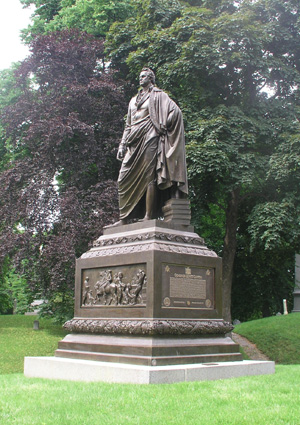DeWitt Clinton memorial by Henry Kirke Brown (...