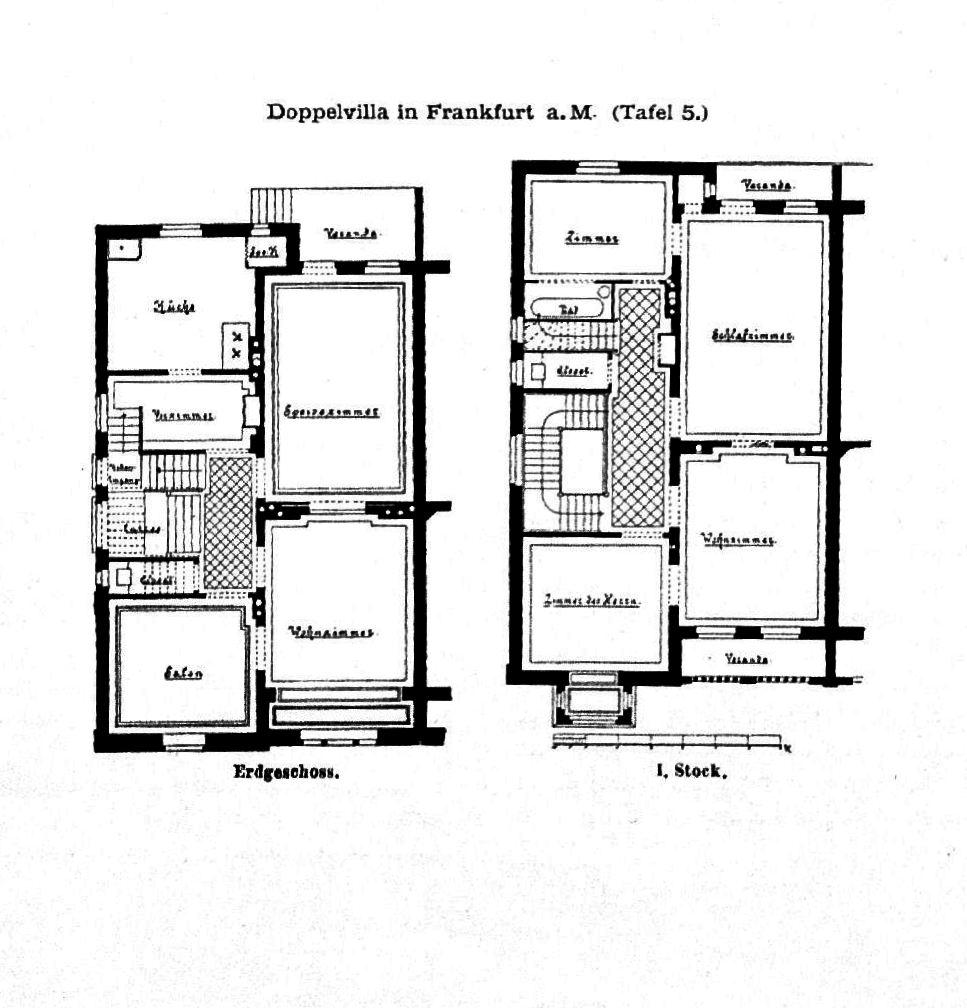 file doppelvilla in frankfurt am main tafel 5 wikimedia commons. Black Bedroom Furniture Sets. Home Design Ideas