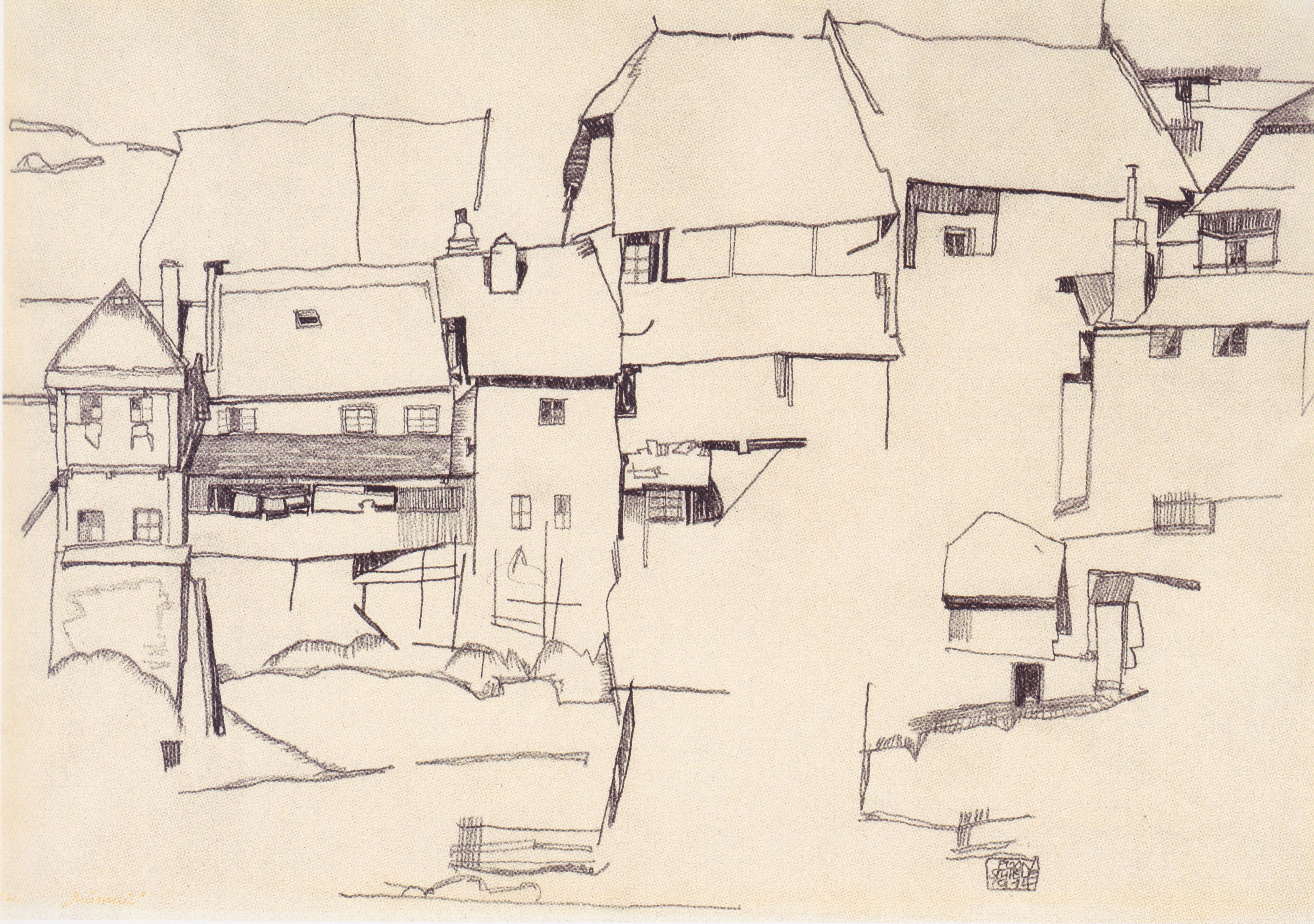 Häuser In file egon schiele alte häuser in krumau 1914 jpeg wikimedia commons