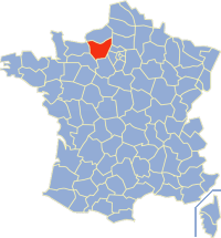 Situation de l'Eure en France.