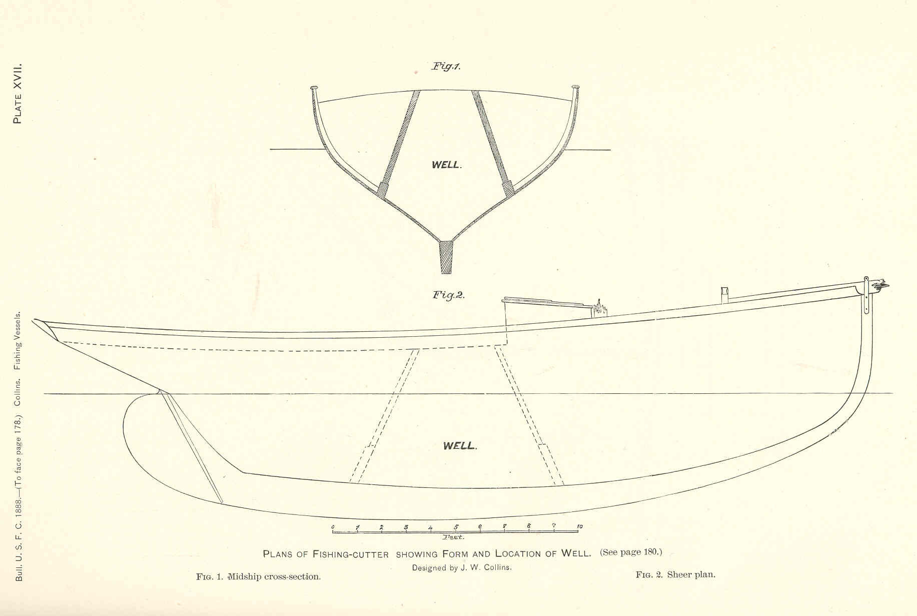 Filefmib 37853 Plans Of Fishing Cutter Showing Form And Location Of