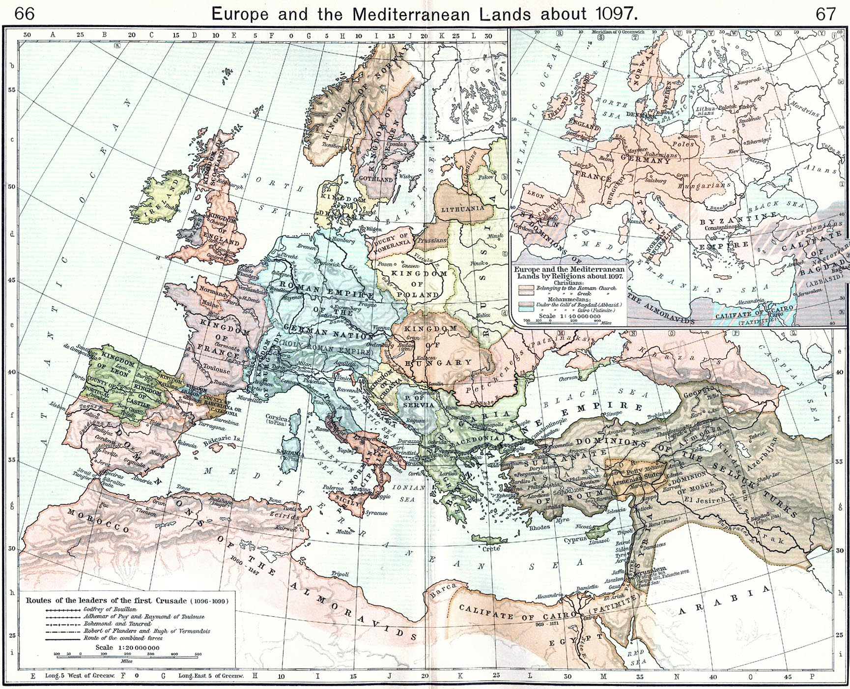 Mapa da Europa First.Crusade.Map
