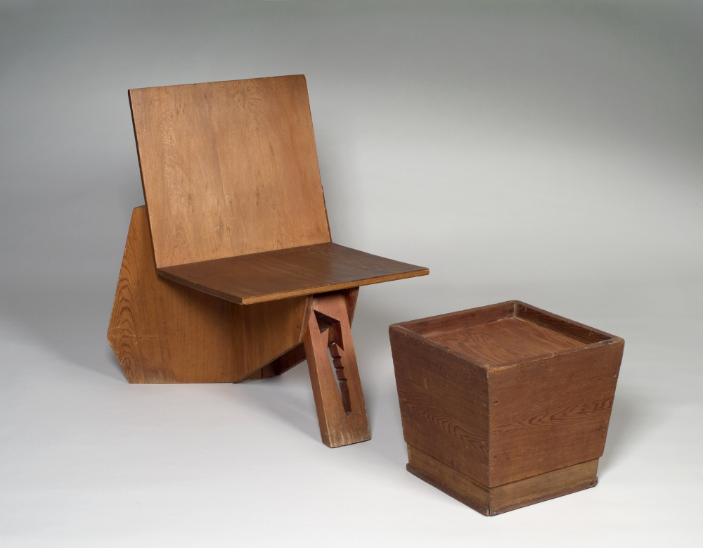 File:Frank Lloyd Wright, Chair and Stool.jpg
