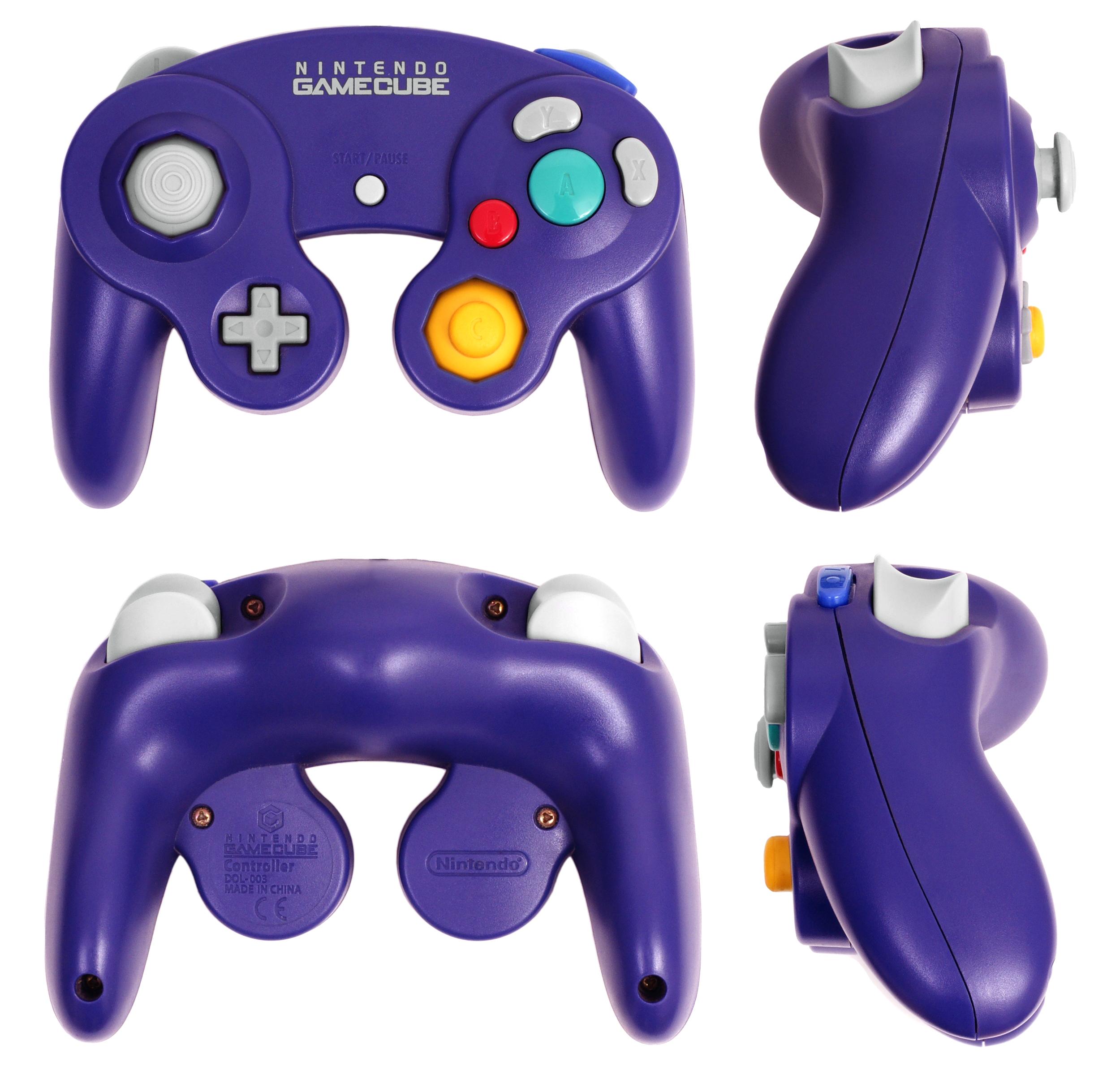 Gamecube Controller Dimensions Purple Gamecube Controller