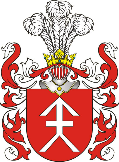 Coat of arms with crossed arrows come from ancient times, like Ko ciesza coat of arms
