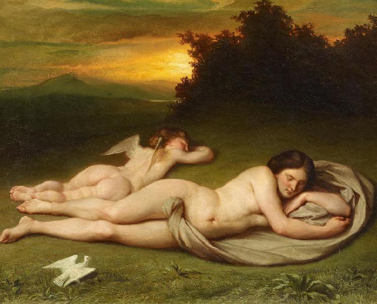 Hermann Steinfurth - Schlafende Venus und Amor