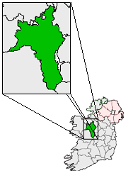 Ireland map County Roscommon Magnified.png