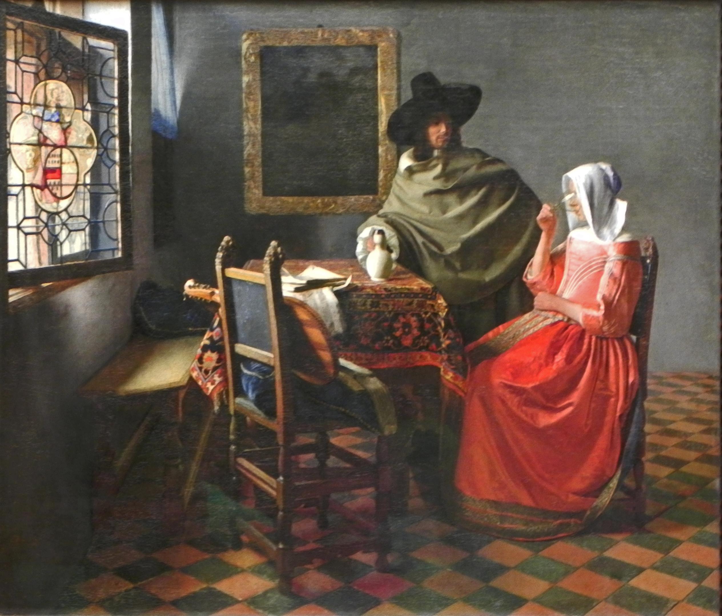 Jan Vermeer Das Glas Wein