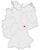 Jenas läge i Tyskland