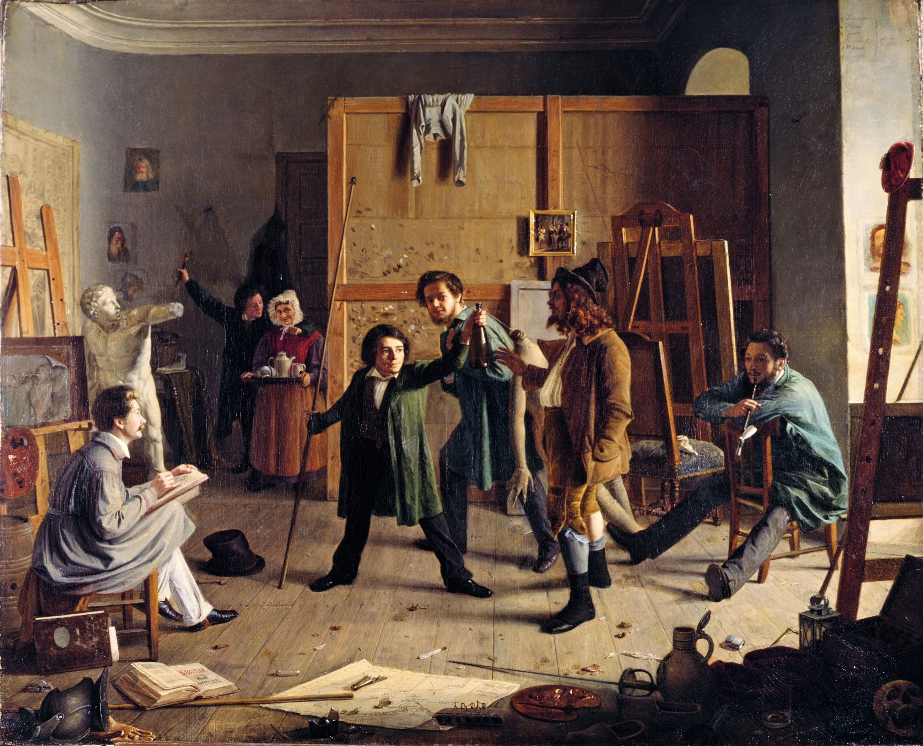 File:Johann Peter Hasenclever, Atelierszene 1836.jpg