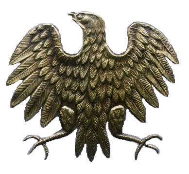 "The ""Piast eagle"" (specimen 43) worn by the soldiers of the Polish 1st Tadeusz Kosciuszko Infantry Division of the Polish Armed Forces of the East. KURICA.png"