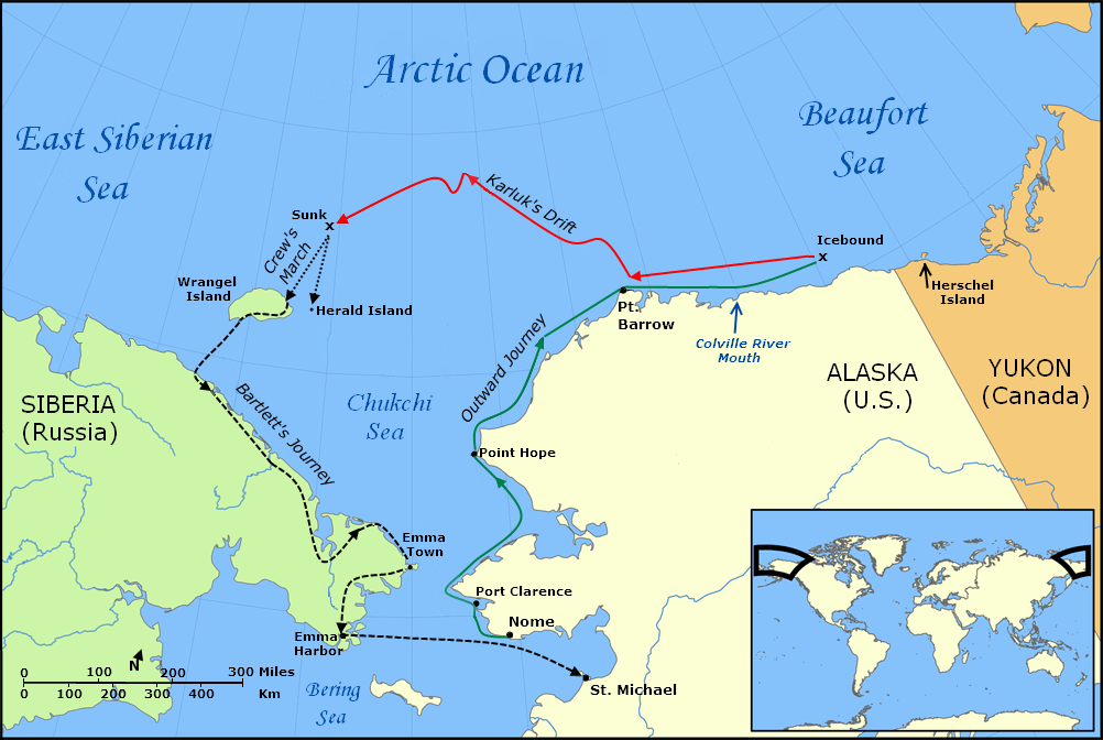 Image result for public domain map wrangel island