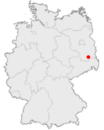 Locator map of Klettwitz in Germany