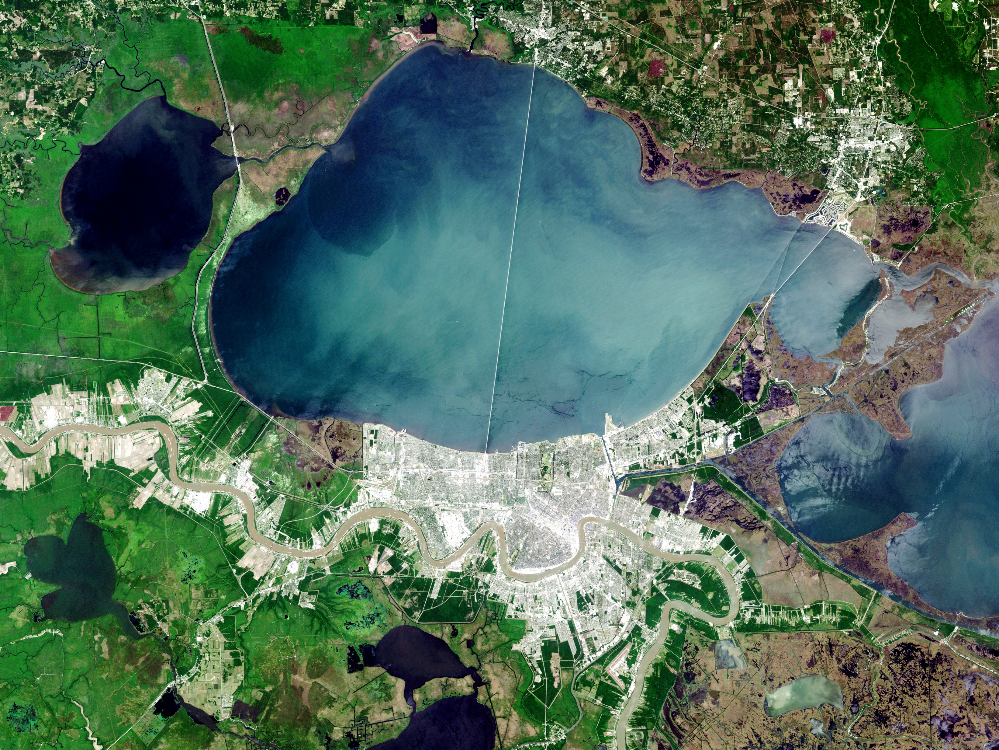 File landsat new orleans nfl wikipedia for Fishing lake pontchartrain