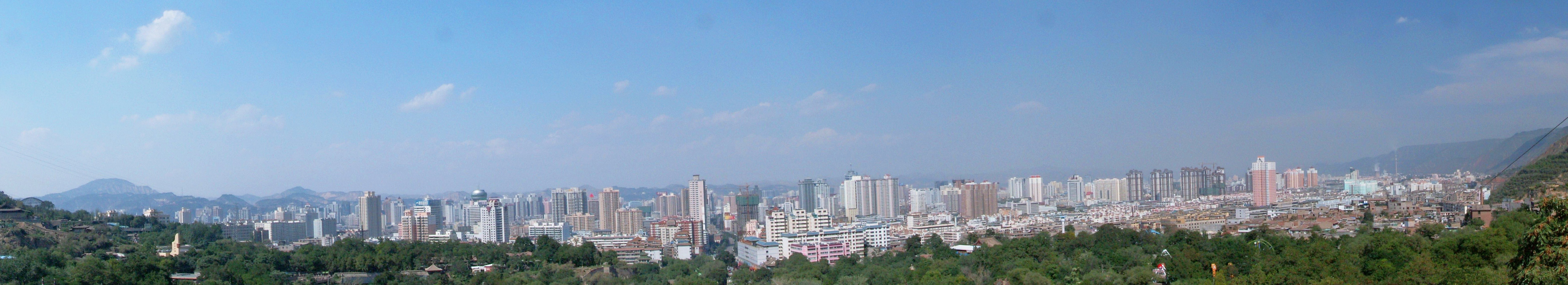 Yangquan China  city pictures gallery : Lanzhou city from Five Springs Park Wikipedia, the free ...