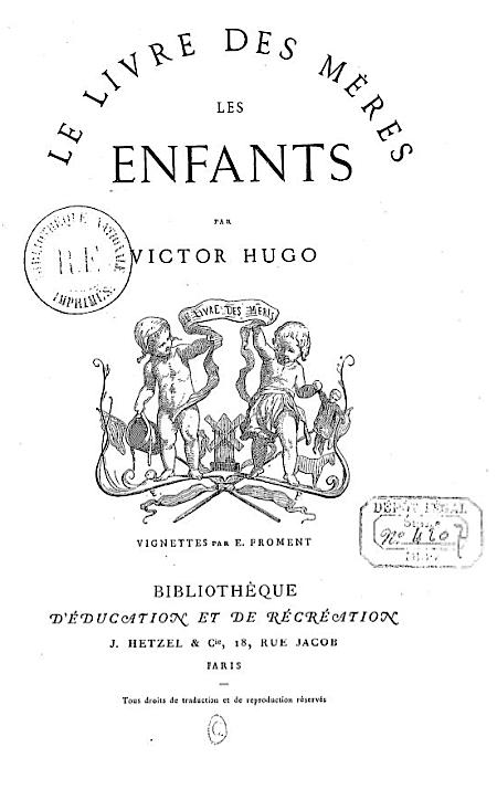 File Le Livre Des Meres Les Enfants By Victor Hugo Cover