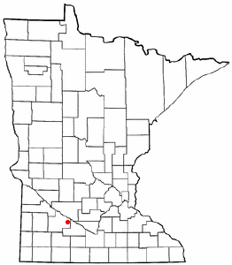 Location of Morgan, Minnesota