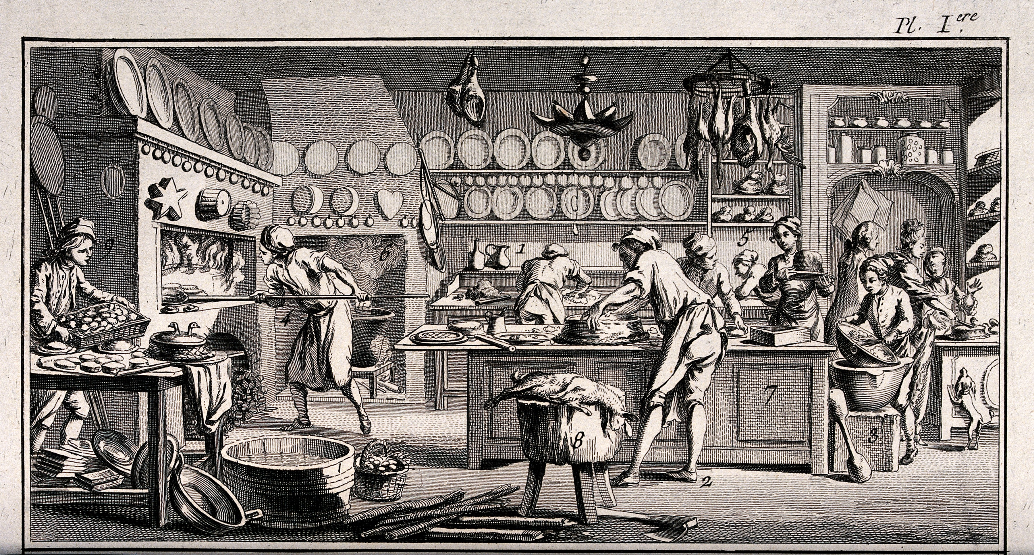 File Many People Are Busy In The Baker S Kitchen Preparing Cakes Wellcome V0039823 Jpg Wikimedia Commons