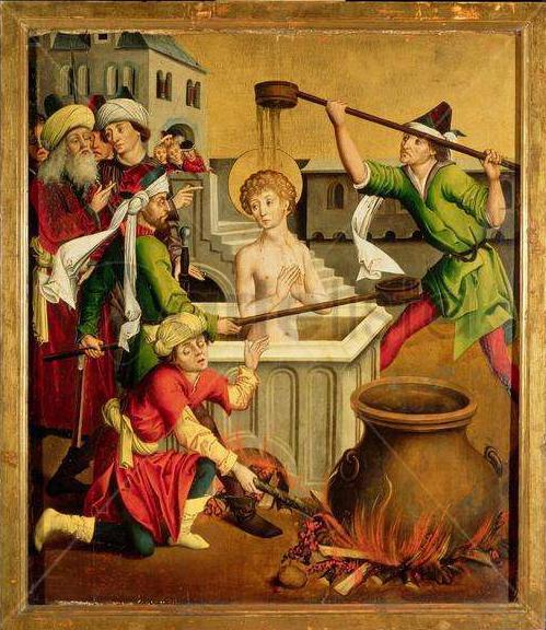 Martyrdom of Saint John the Evangelist by Master of the Winkler Epitaph