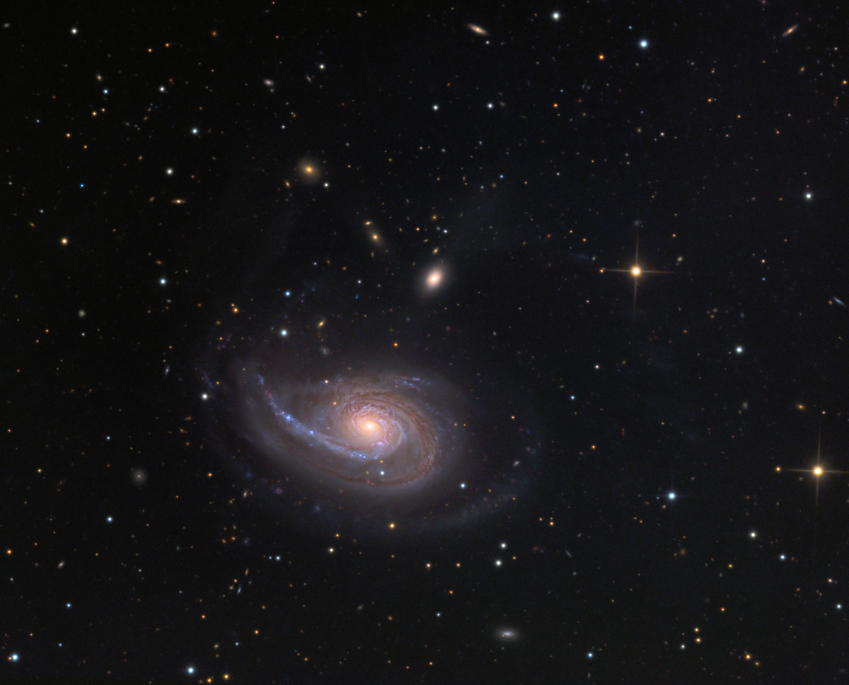 NGC 772, darüber NGC 770, Aufnahme mit einem 60-cm-Teleskop