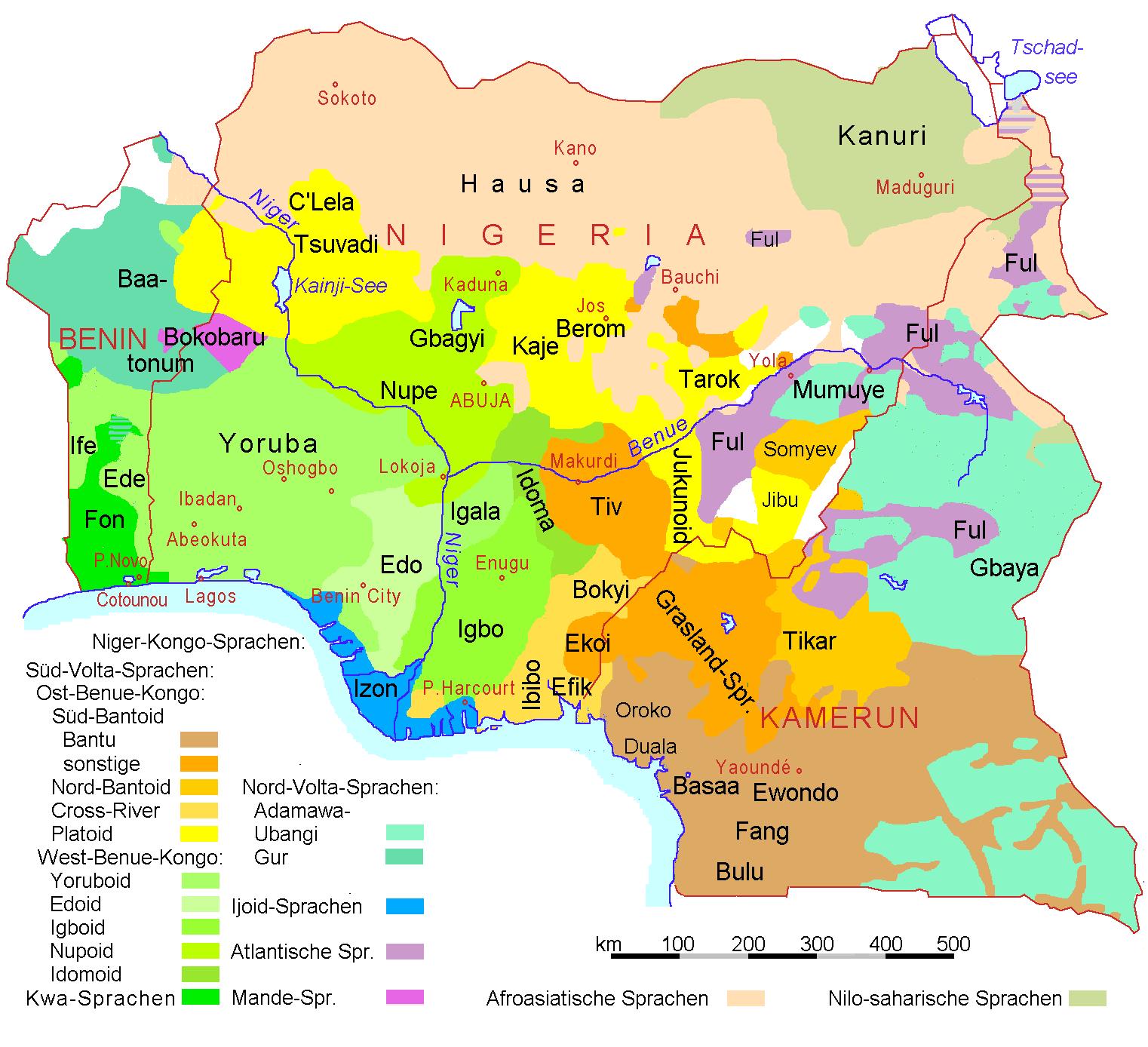 FileNigeria Benin Kamerun Sprachenpng Wikimedia Commons - Niger map hd pdf