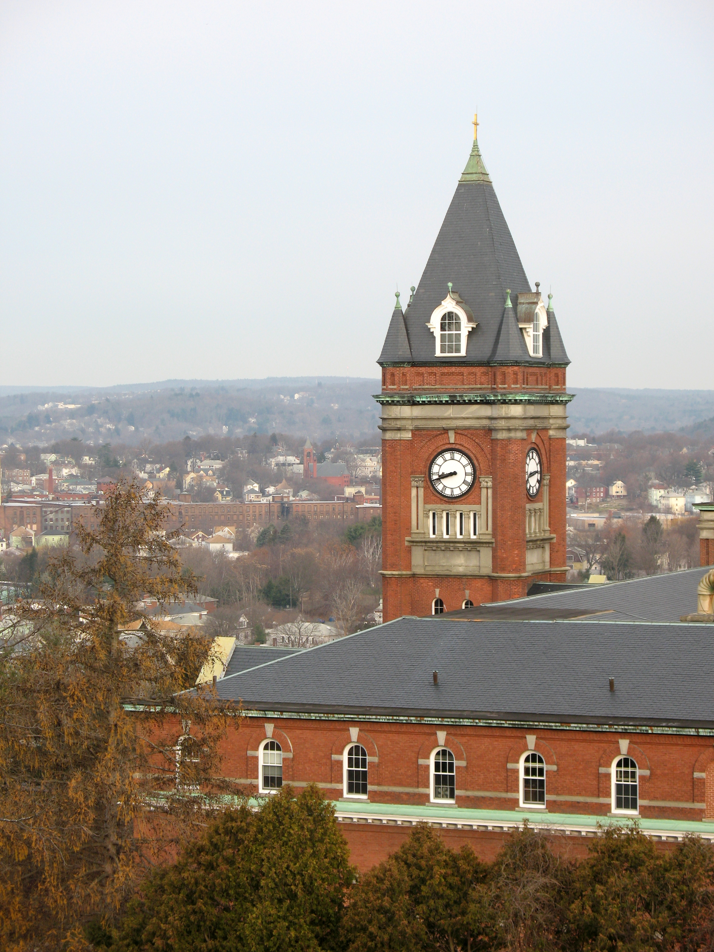 The college of the holy cross is the only nationally ranked liberal arts college grounded in a catholic jesuit identity located in worcester the second