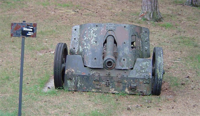 German 50 Mm Anti Tank Gun: Wikimedia Commons