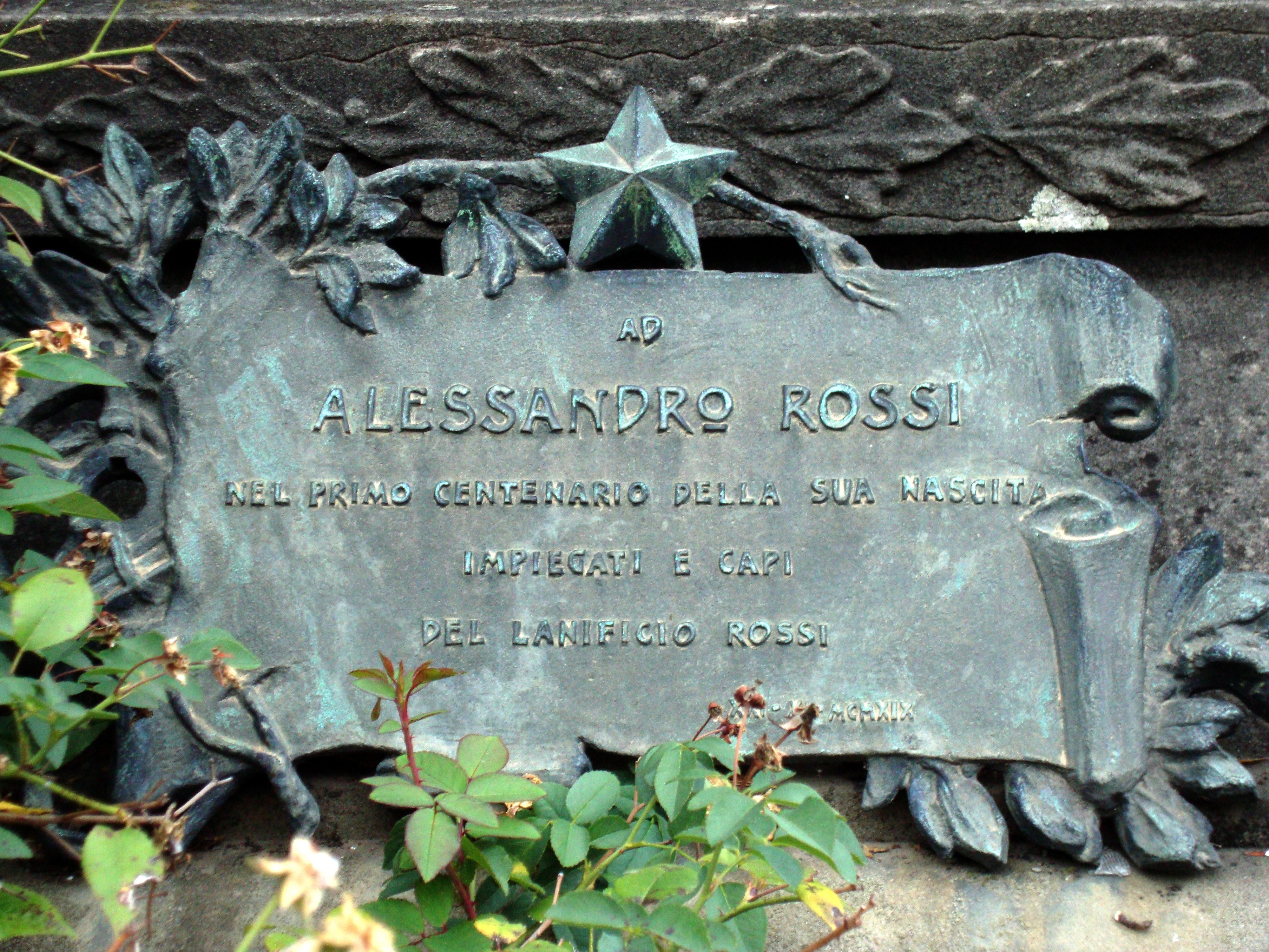File Particolare Del Monumento Ad Alessandro Rossi Schio