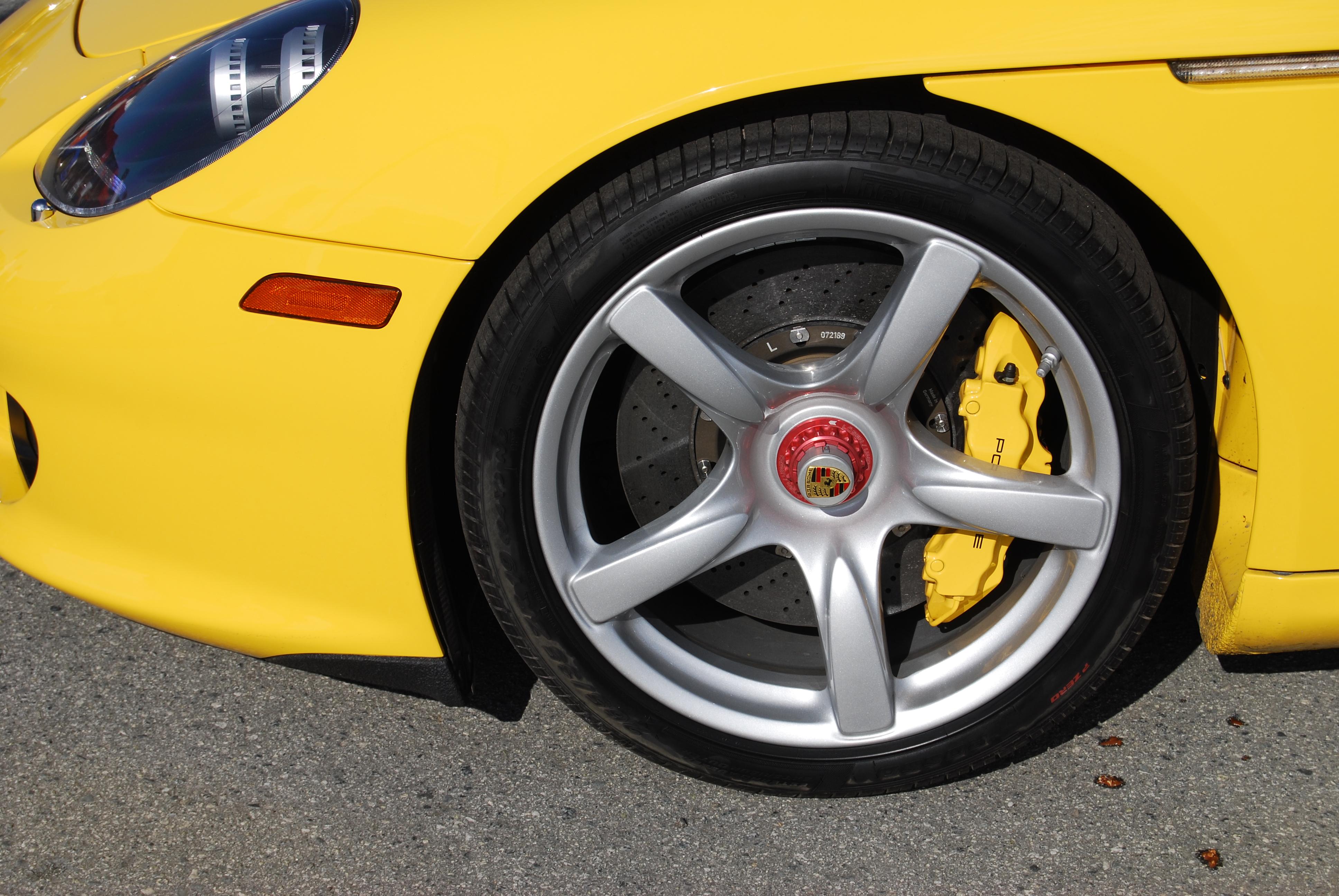 File Porsche Carrera Gt Front Left Tire Wheel Brake