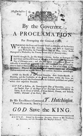 マサチューセッツ湾直轄植民地 - Province of Massachusetts Bay