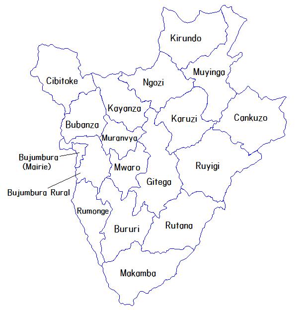 Pembagian wilayah administratif Burundi