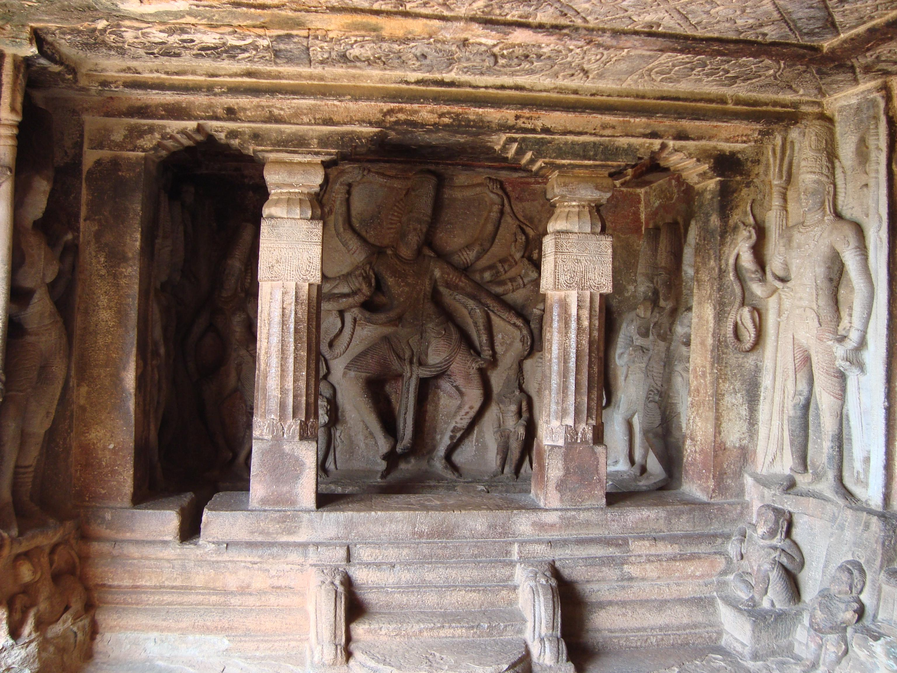 Inside the Ravana Phadi cave, Aihole