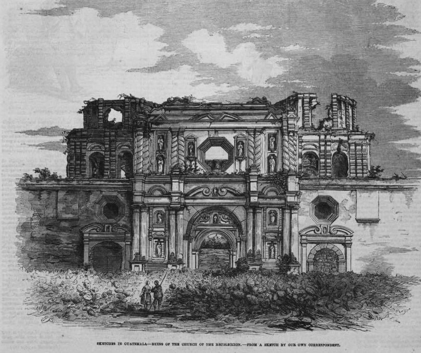 La Recoleccion Ruins in 1840, after the 1773 Santa Marta and decades of neglect.