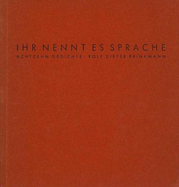 Dateirolf Dieter Brinkmann Ihr Nennt Es Sprache 1962jpg