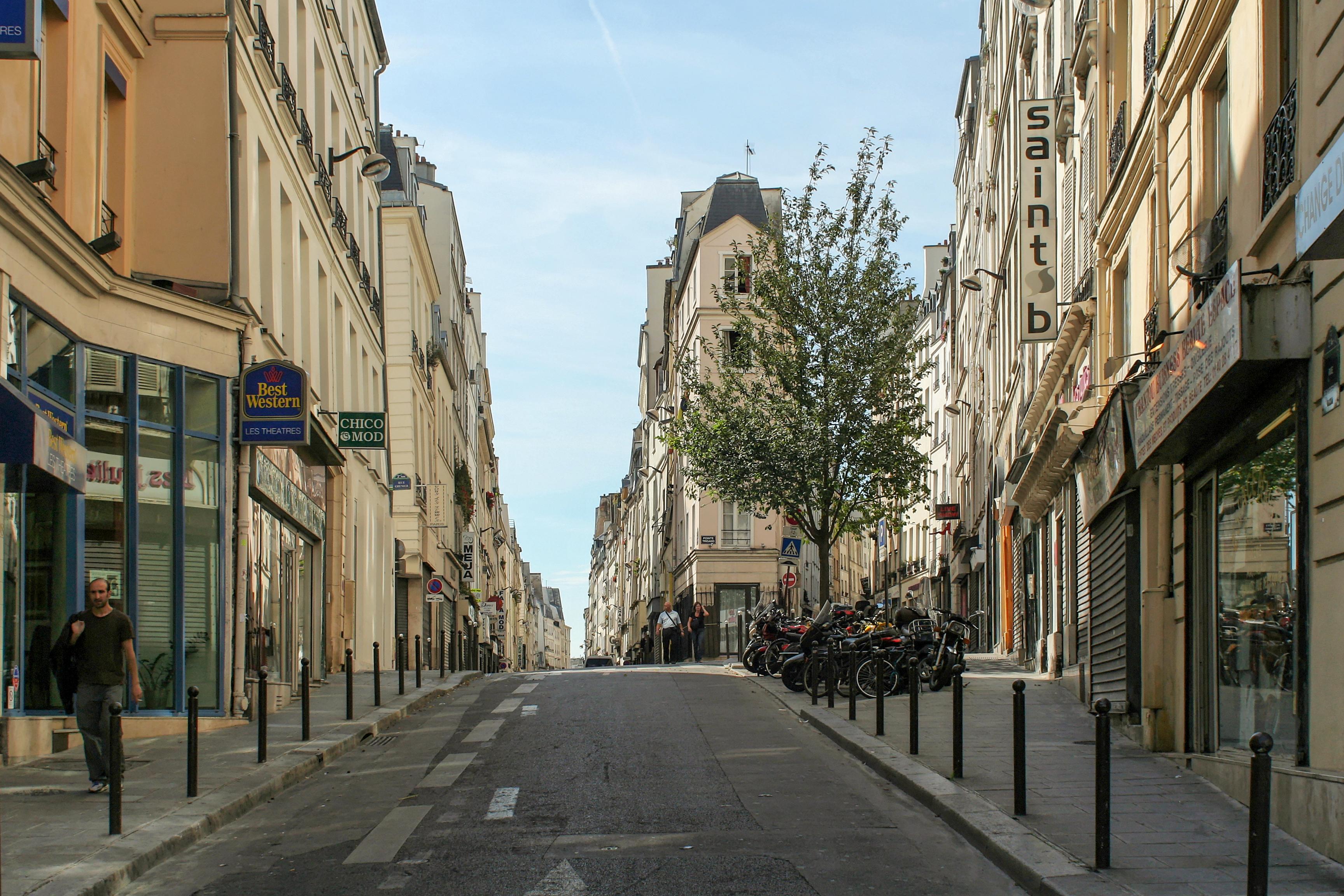 file rue de cl ry paris et rue beauregard paris wikimedia commons. Black Bedroom Furniture Sets. Home Design Ideas
