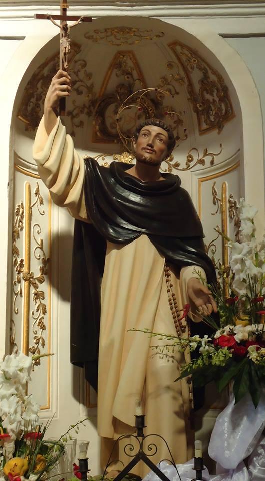 S. Giacinto Giordano Ansalone, statue av Flavio Panceri Ortisei (1987) i Il Santuario di San Giacinto Giordano Ansalone i Santo Stefano Quisquina