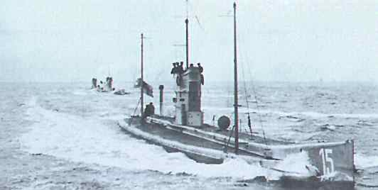 War Submarines Today Today in World War i U-15
