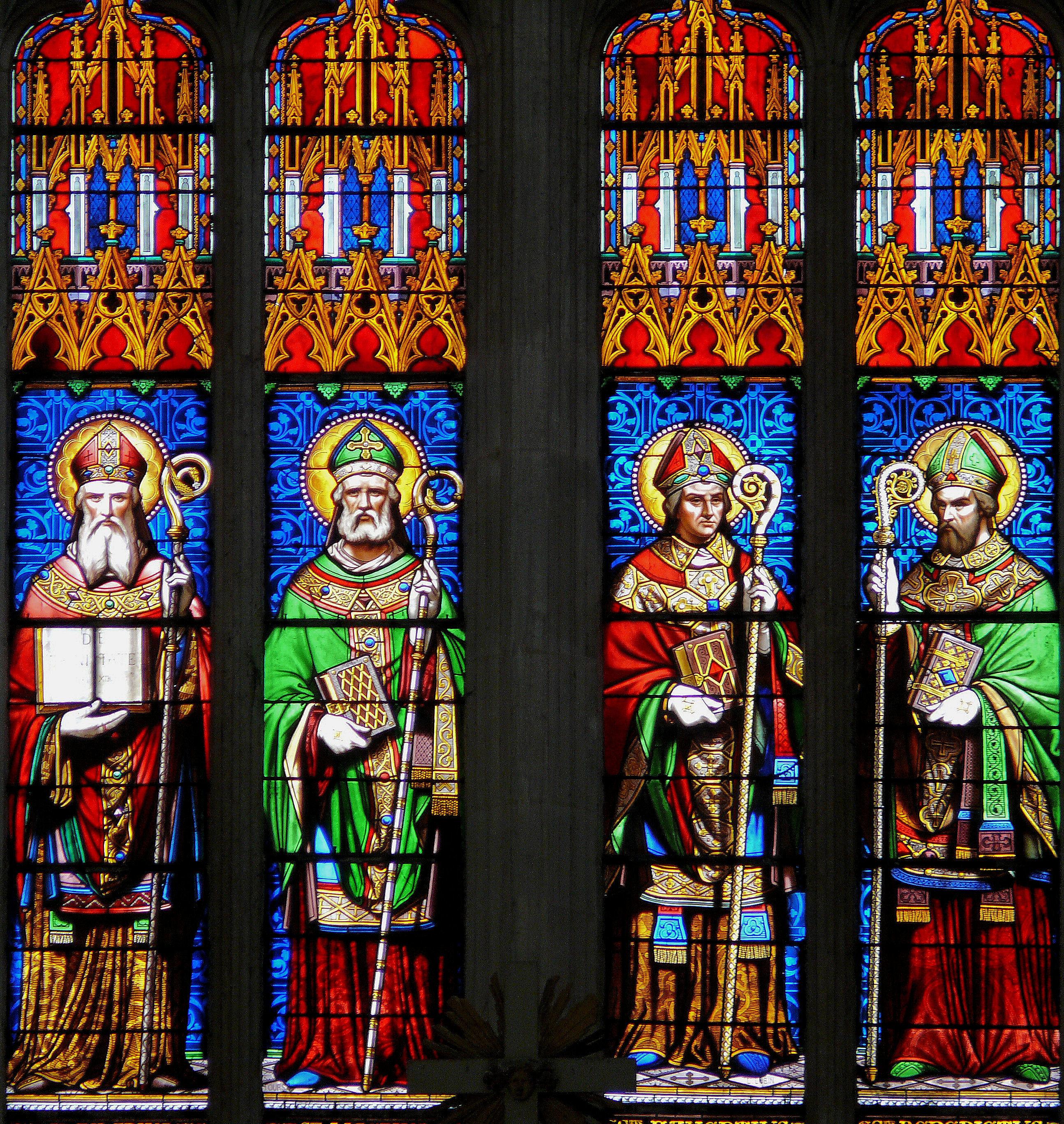 Saint-Maixent-l'Ecole France  city pictures gallery : Fichier:Saint Maixent l'Ecole Abbatiale Vitraux — Wikipédia
