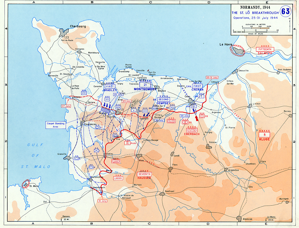 World war ii operation cobra breakout from normandy