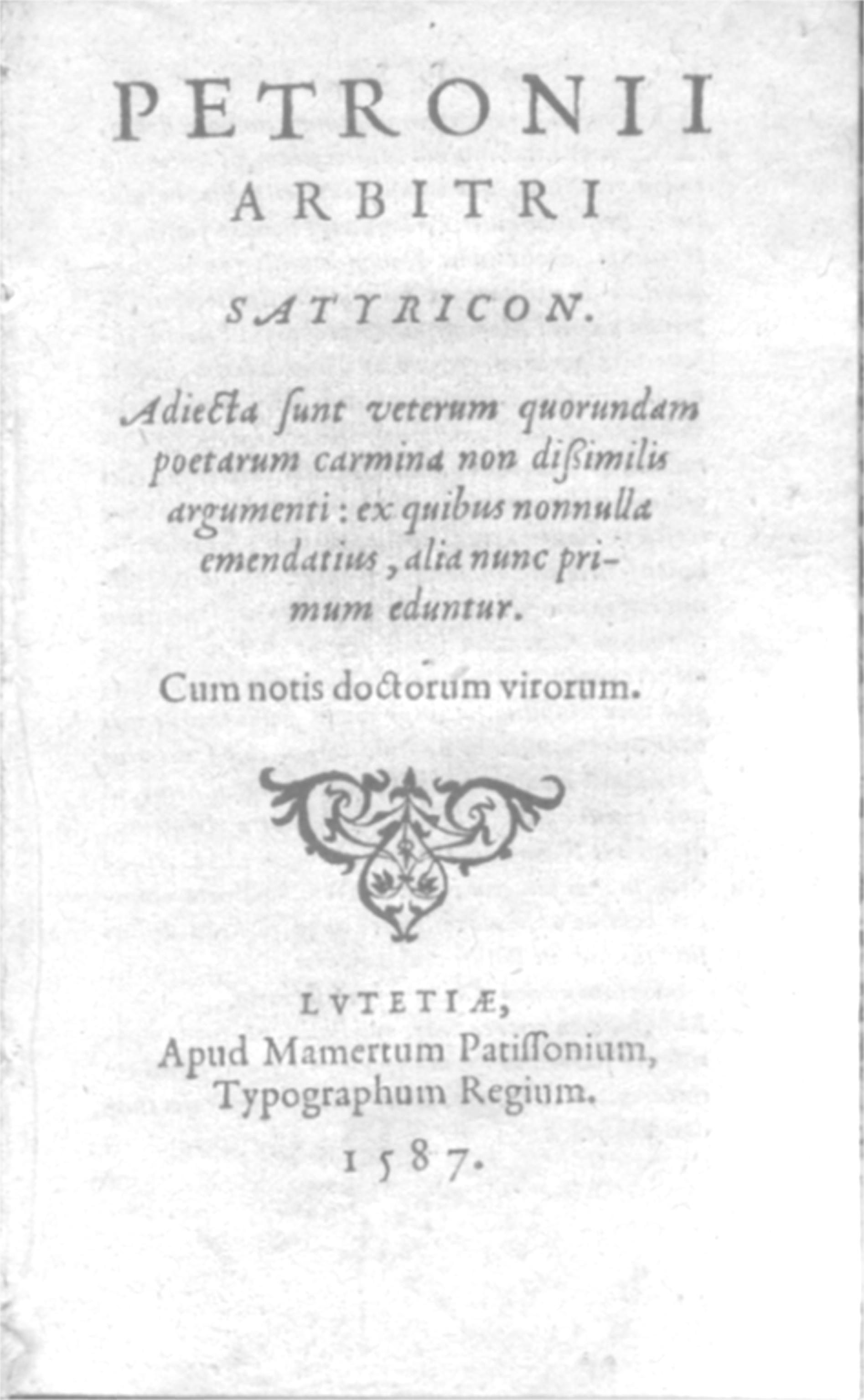 Titus Petronius Wikipedia