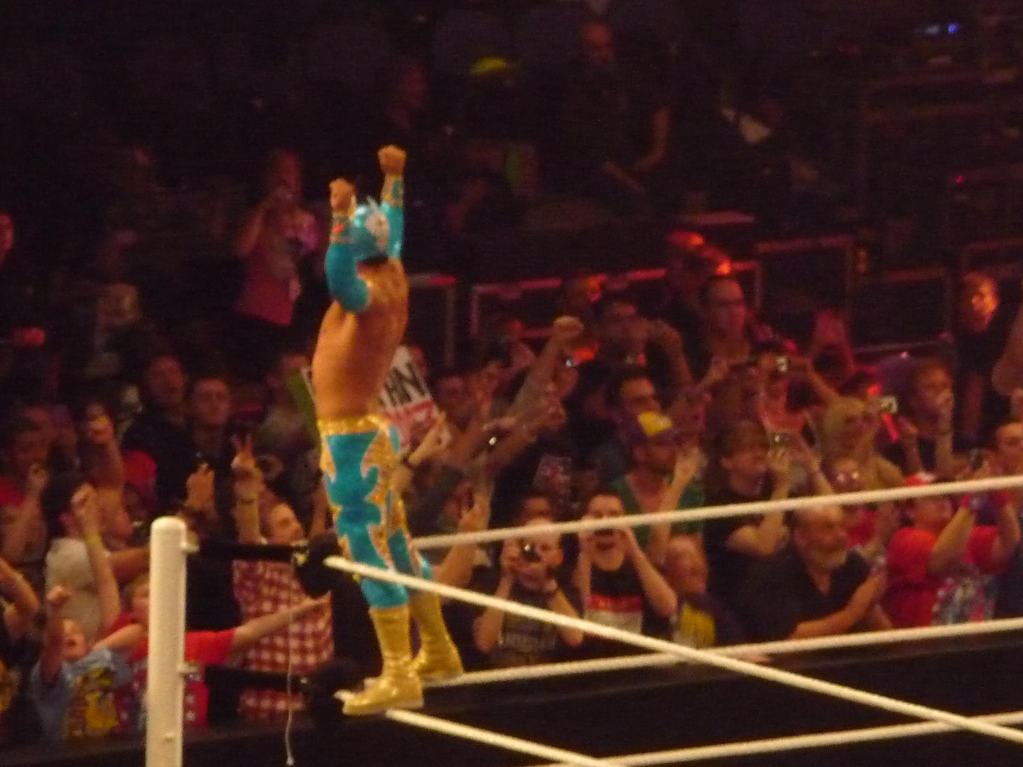 John Cena and Sin Cara