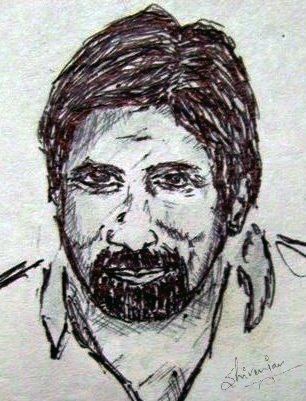 English: A sketch of Mr. Amitab Bachchan