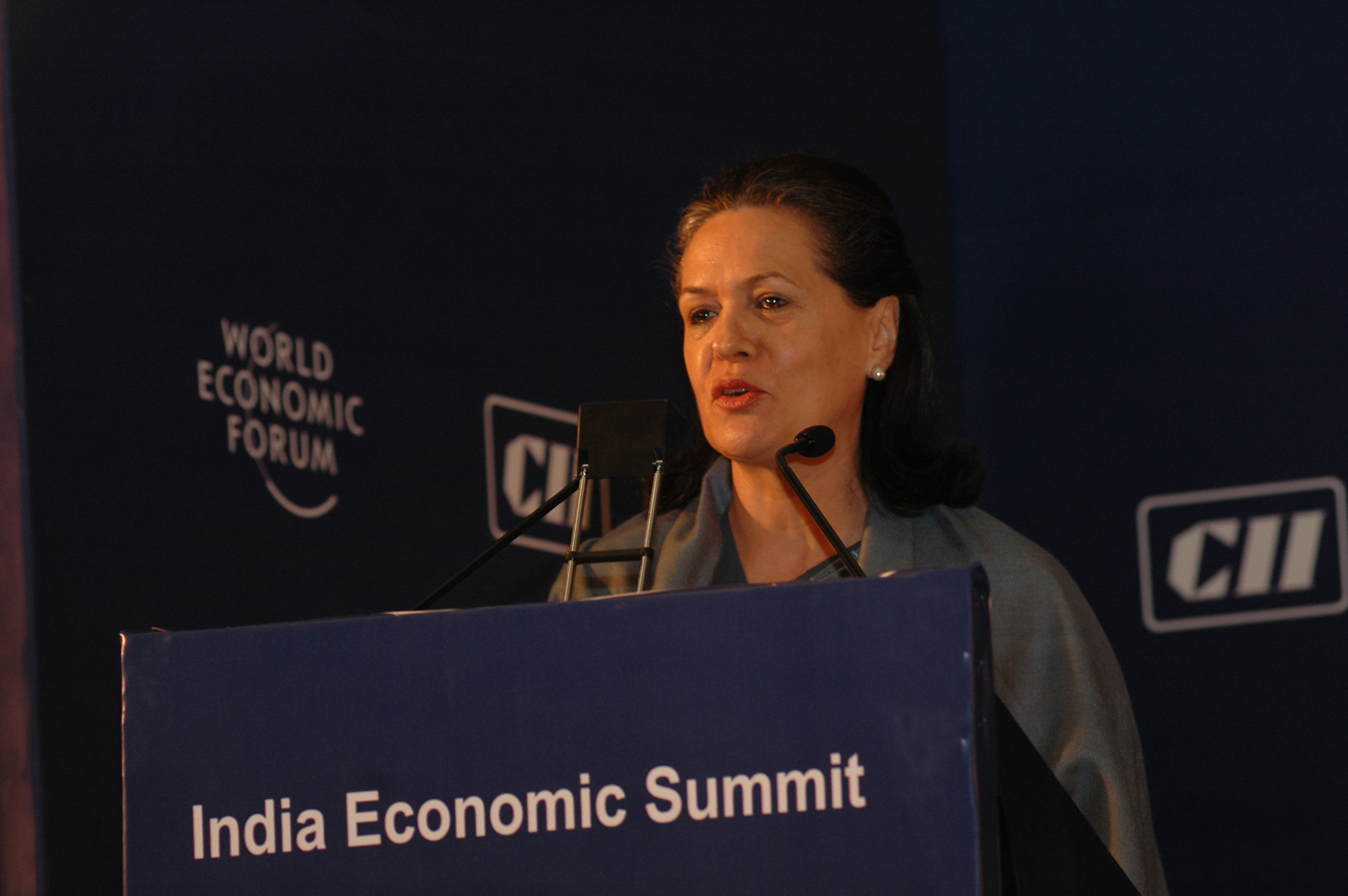 English: Sonia Gandhi, Chairperson, United Pro...