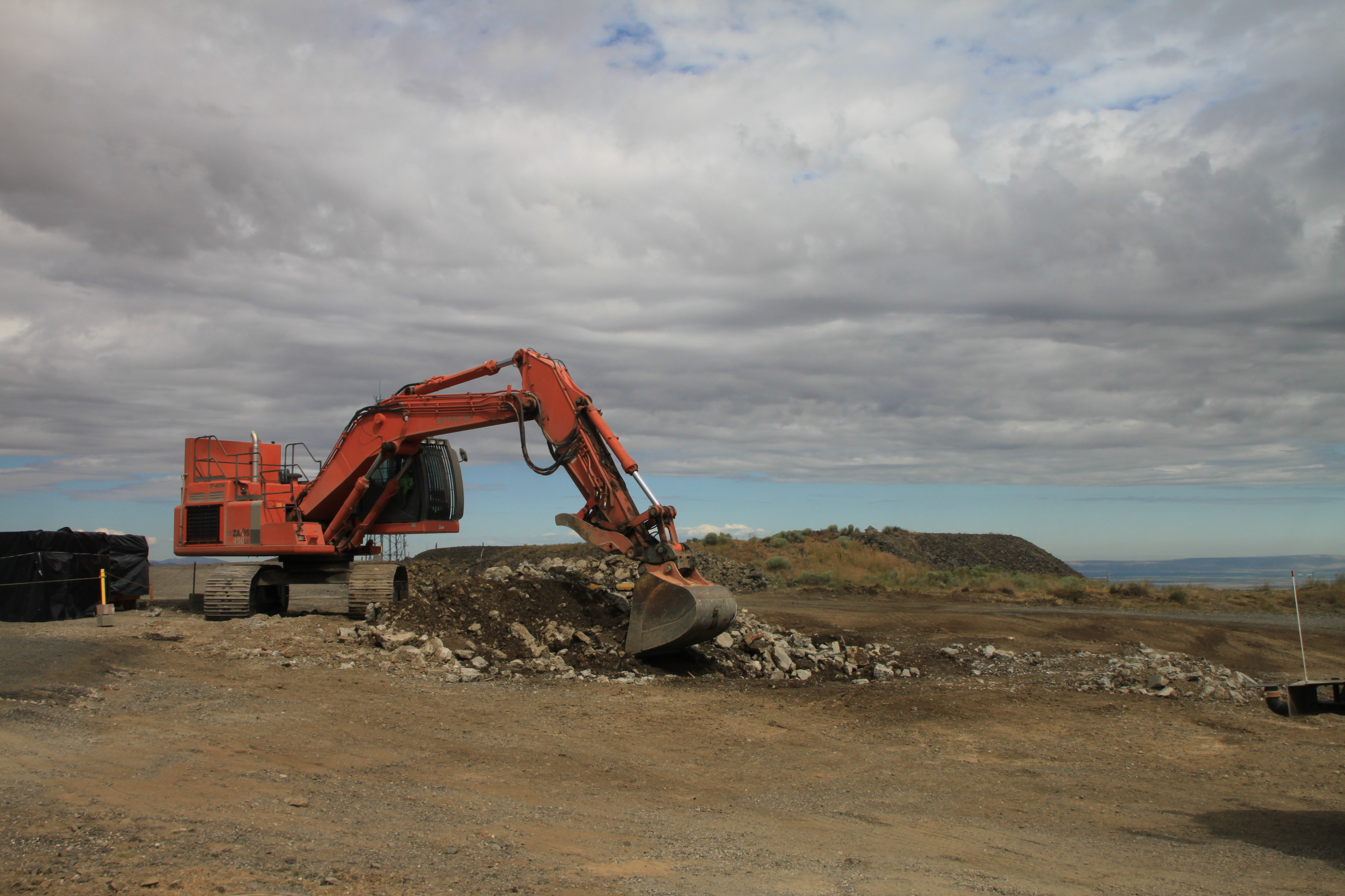 Stimulus funds cleanup of historical mountaintop at Hanford (7421734204).jpg The 6652-C Space Science Laboratory after demolition atop Rattlesnake