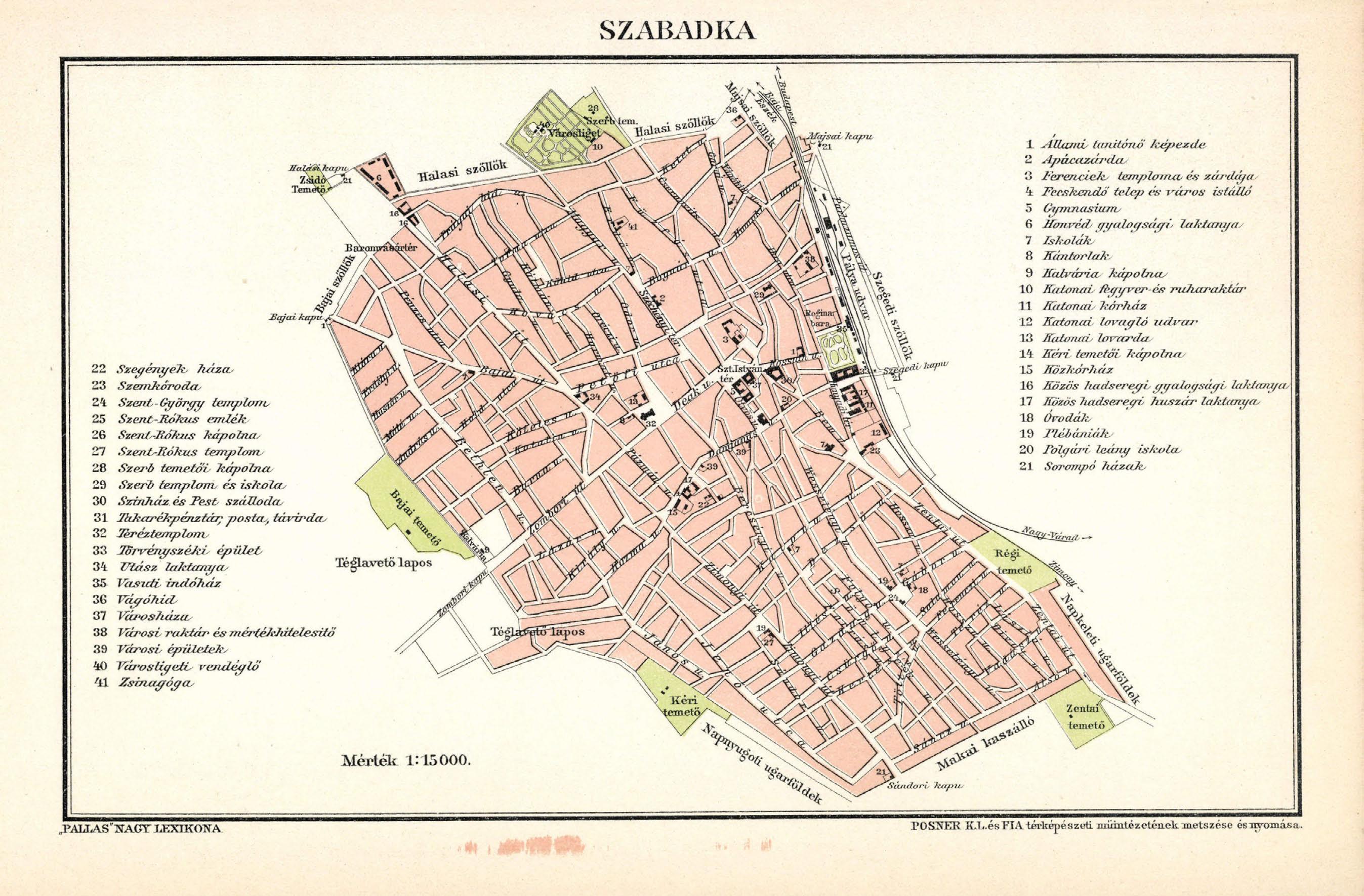 szabadka térkép Fájl:Szabadka város térképe, Trianon előtt. – Wikipédia szabadka térkép