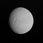 Tethys photographed by Voyager 1 from 1.2 million km