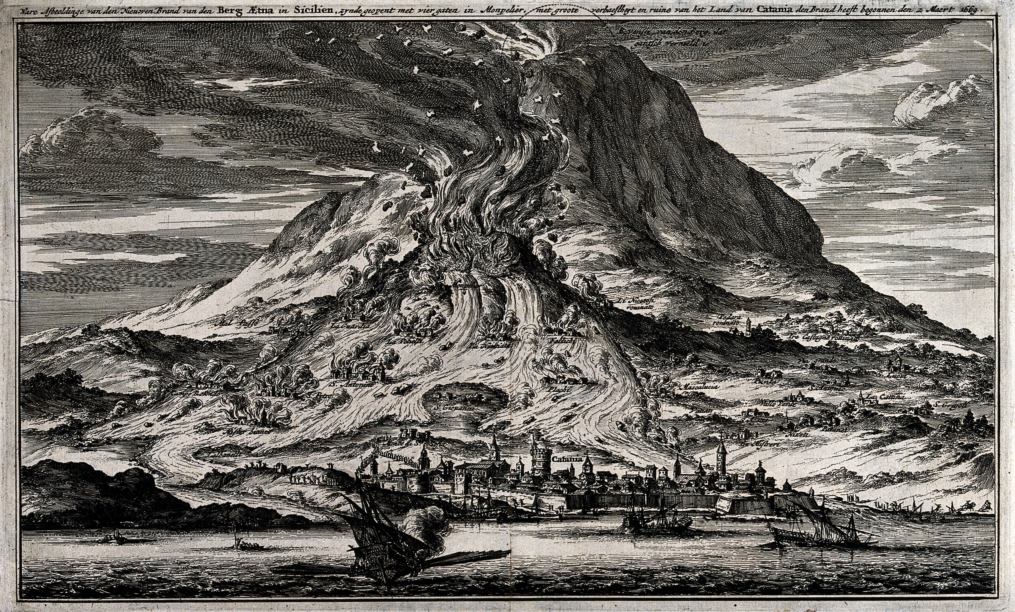 File:The eruption of Mount Etna in 1669. Etching. Wellcome V0025180.jpg