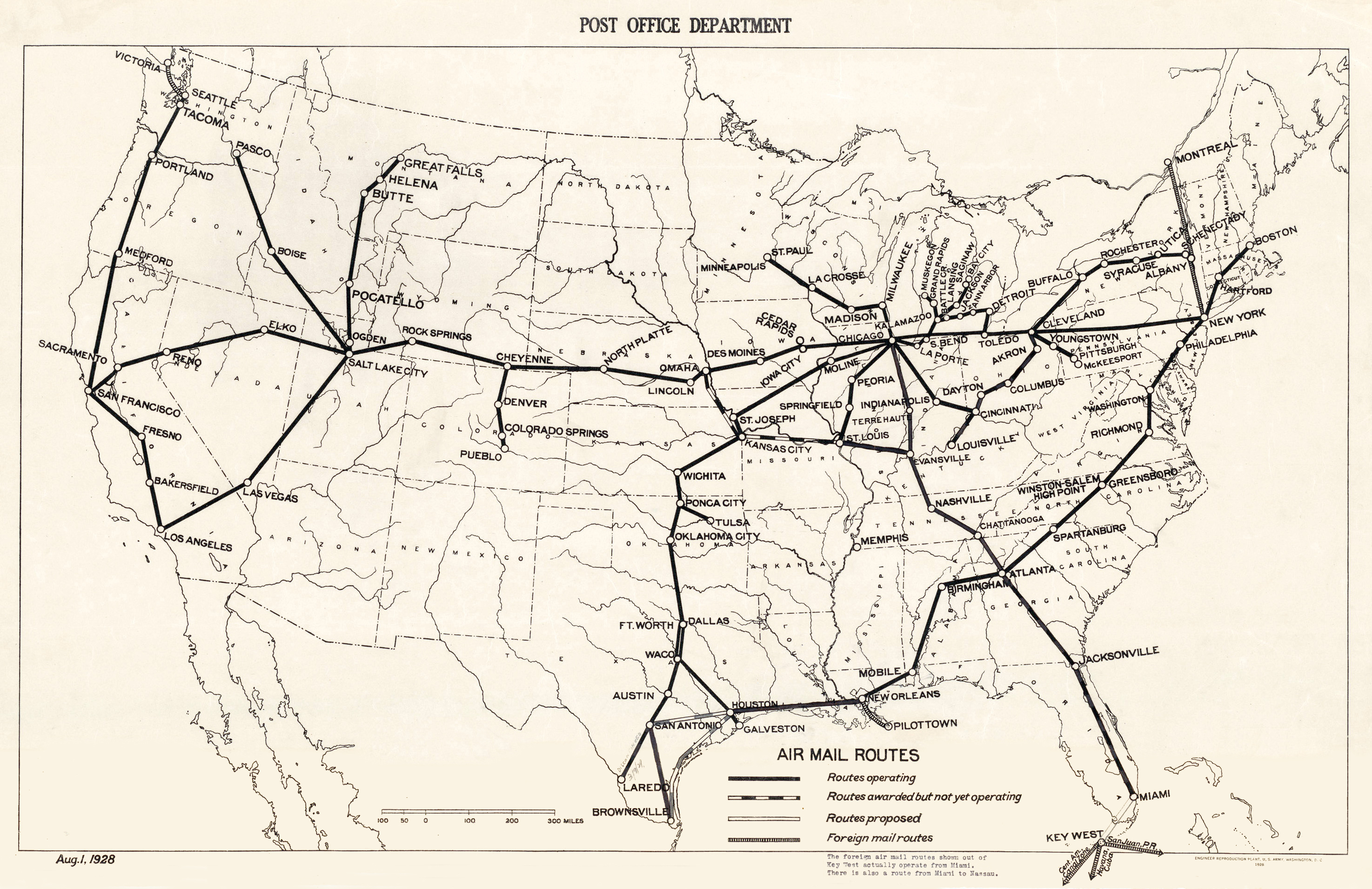 File:USPOD 1928 air mail route map.jpg - Wikimedia Commons on transport map of routes, map of us interstate routes, us map road trip, map of the united states with routes, us interstate highway maps routes, map of amtrak train routes, world map with routes,