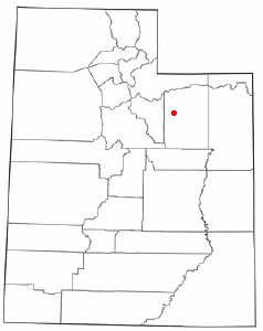 Location of Tabiona, Utah